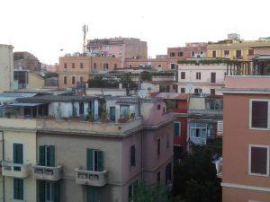 Abendröte in Rom