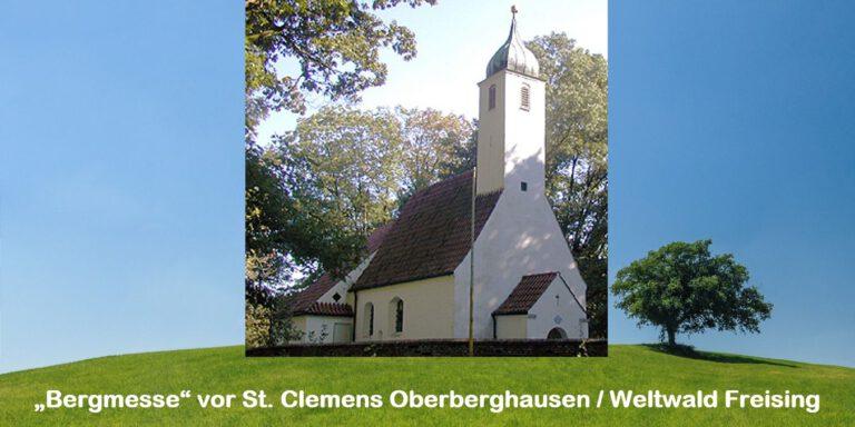 """Bergmesse"" vor St. Clemens Oberberghausen / Weltwald Freising"